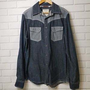 Guess two toned denim shirt